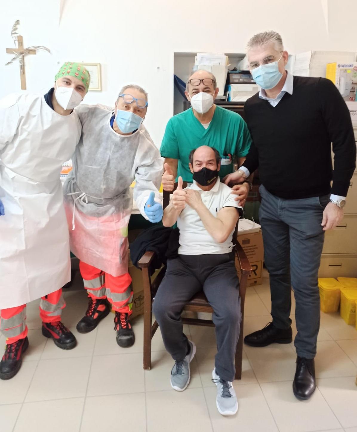 Seconda vaccinazione per ospiti e operatori della casa di riposo S. Rita di Atri (Te)
