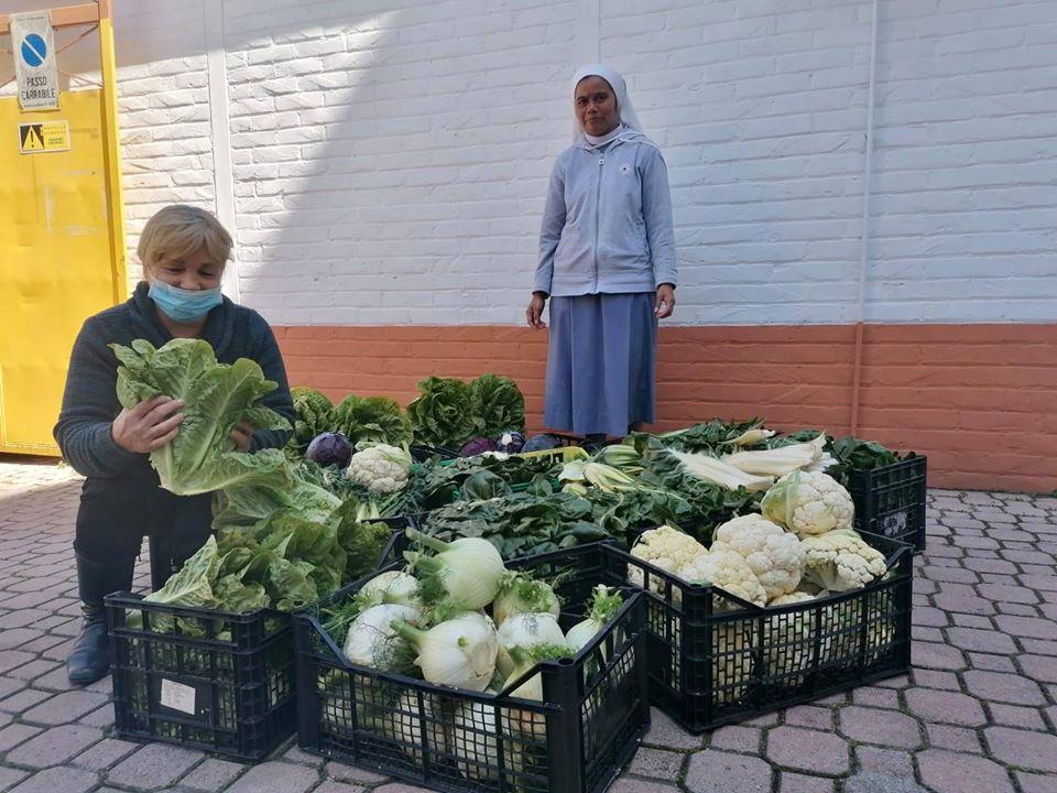500 chilogrammi di ortaggi donati all'Istituto Castorani di Giulianova.